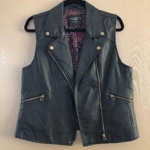 Sanctuary Los Angeles Faux Black Leather Moto Vest